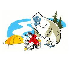 Camping Canada illustrated by Satoshi Hashimoto www.dutchuncle.co.uk/satoshi-hashimoto