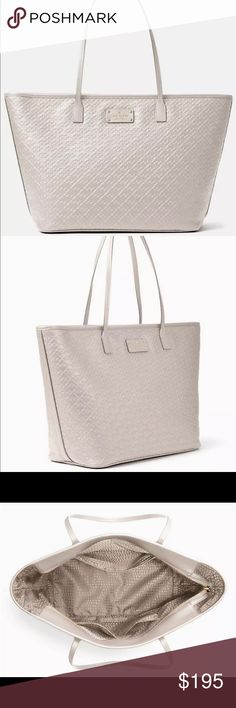 Kate Spade Penn Place Embossed Margareta, pebble Brand new Kate Spade tote perfect size and color! kate spade Bags Totes
