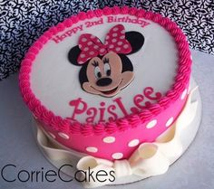 cute minnie mouse cake: