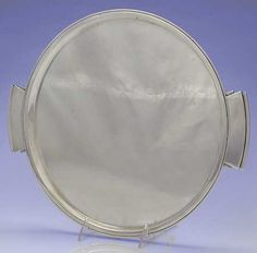 Large Waiter Tray in the Pyramid (sterling, 1927, Hollowware) pattern by Georg Jensen-Denmark