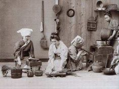 In the kitchen Edo Period, Asia, Culture, Statue, Illustration, Pictures, Painting, Kitchen, Photos