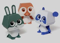 PAPERMAU: Quorory Japanese Patterns Cute Paper Toys - by Cut Fold Glue