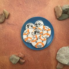 BB-8 sugar cookie recipe | Bring BB-8 to life for your next Star Wars party. | [ http://family.disney.com/recipe/bb-8-cookie ]