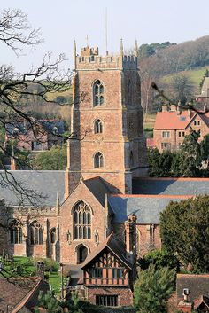 ~Dunster Church, Somerset~ This is where we found a Strong and Burroughs on church plaques! Great Places, Places To See, Beautiful Places, Visit Devon, Images Of England, England Ireland, St George's, Cathedral Church, Old Churches