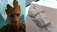AJ Robotics - 6 Axis #robot milling a 3D model of #Groot from Guardians of the Galaxy #GotG  www.ajrobotics.co.uk
