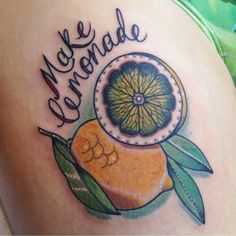 Make lemonade #tattoo by Jody Dawber
