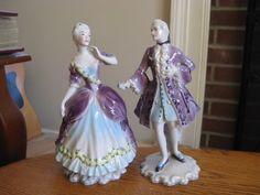 ~ Set of 2 Antique Goldscheider Figurines by Peggy Porcher Declaration D' Amour ~ ebay.com