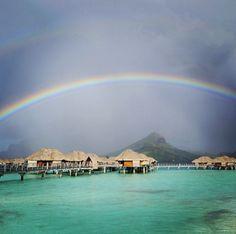 Bora Bora via Travel & Leisure Magazine Places Around The World, Travel Around The World, Around The Worlds, Vacation Places, Vacation Destinations, Dream Vacations, Vacation Ideas, Honeymoon Spots, Paradise On Earth