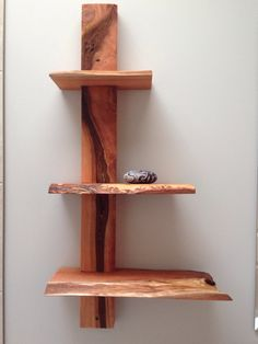 JulieAnne Hage Art and Design, Rustic / Live edge cedar shelves. From the studio of JulieAnne Hage. Rustic Wooden Shelves, Timber Shelves, Wood Shop Projects, Small Woodworking Projects, Raw Wood, Cedar Wood, Live Edge Wood, Diy Headboards, Log Furniture