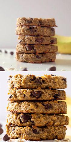 Healthy Oatmeal Cookies, Healthy Cookie Recipes, Oatmeal Cookie Recipes, Healthy Cake, Healthy Sweets, Healthy Baking, Snack Recipes, Baked Oatmeal, Flourless Oatmeal Cookies