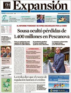 Los Titulares y Portadas de Noticias Destacadas Españolas del 11 de Julio de 2013 del Diario Expansión ¿Que le parecio esta Portada de este Diario Español?