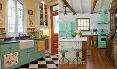 Cozinha: confira inspirações de decoração retrô para o ambiente