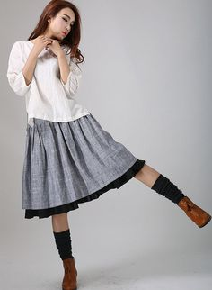 Skirts Clothing, Shoes & Accessories Precise $118 Nwt Anthropologie Gray Pinstripe Fishtail Pleated Womens Skirt 6