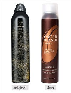 Oscar Blandi Pronto Texture & Volume Spray ($25, Ulta.com) dupe for Oribe Dry Texturizing Spray ($39, Oribe.com)