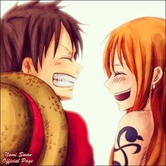 Nami and Luffy #one piece