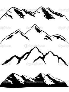 my simple mountain range tattoo could be enhanced slightly by adding line depth like the 3rd one down..