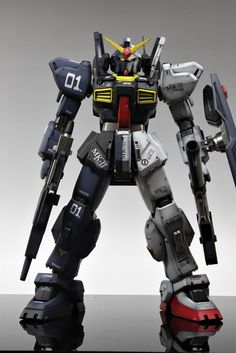 """PG 1/60 RX-178 Gundam Mk-II """"Two Faces"""" Ver.Titans/A.E.U.G. Modeled by Skull. Full Photoreview Wallpaper Size Images"""