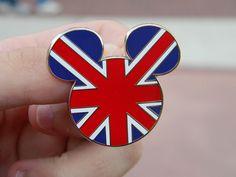 British Flag Mickey ears pin  #disney