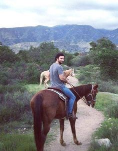Aidan and horses. A good combinatipn