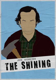 Jack Nicholson - The Shining (1980) - Minimalist Style by Adriano Defendi