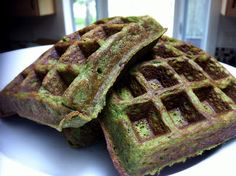 Paleo waffles  Ingredients  4 Eggs  1/4 cup Roasted Yam  1 T. Coconut Flour  1/2 tsp. Baking Powder (HERE is a recipe, if you'd like to make your own)  For a little sweetness (this is how I like mine):  1 T. Cinnamon  1/2 T. Vanilla Extract  Add some greens!!!!