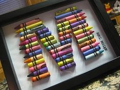 Crayon Initials: another great idea from Frugal Life Project  www.frugallifeproject.com