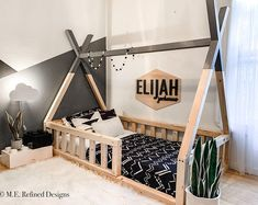 Diy Toddler Bed, Boy Toddler Bedroom, Toddler Rooms, Baby Boy Rooms, Kids Bedroom, Toddler Floor Bed, Child Room, Girl Rooms, Toddler And Baby Room