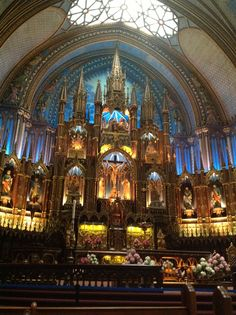 Notre Damme Basílica, Montreal, Canada