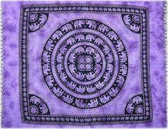 Elephant with Fringe - Purple - Tapestry