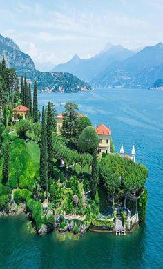 Lake Como, Italy where George Clooney has a home