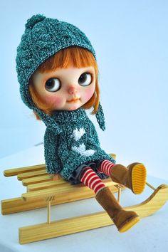 Tenue tricoté pour Blythe de Miema Dollhouse