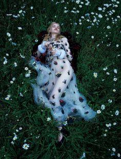 Stella Lucia in 'True Innocence' by Camilla Åkrans for Vogue Japan December 2015.