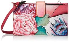 Women's Wristlet Handbags - Anuschka Large Smart Phone Case RYR Rosy Reverie One Size -- You can find more details by visiting the image link.