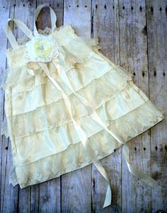 Vintage ruffle lace dress..Love!