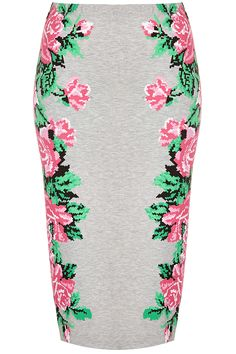 Pixel Flower Tube Skirt - New In This Week - New In - Topshop USA