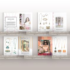 Each #jewellery #collection of the Butterfly #jewellery #SS17 #lookbook has its own #identity http://www.foundrydigital.co.uk/projects/butterfly-jewellery/ #brochure #design #fashion