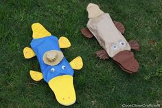 Paper bag Perry the Platypus craft (1)