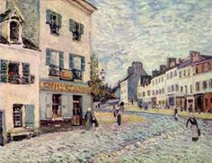 Street in Marly, Oil On Canvas by Alfred Sisley (1839-1899, France)