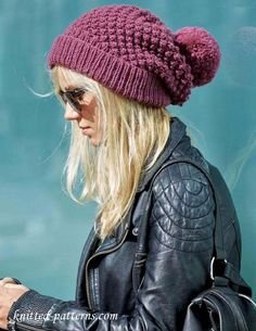 Womens beanie knitting pattern free - Crafting For Holidays