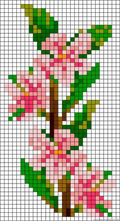 sandylandya@outlook.es  Cherryblossoms flowers perler bead pattern