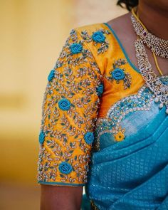 Stunning Latest Maggam Work Blouse designs 2020 for bridal kanjeevaram silk sarees, wedding blouses, pattu saree blouse designs 2020 Cutwork Blouse Designs, Simple Blouse Designs, Stylish Blouse Design, Blouse Neck Designs, Blouse Patterns, Sari Blouse, Aari Work Blouse, Latest Maggam Work Blouses, Maggam Work Designs