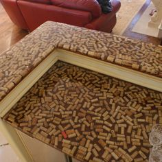 Wine cork bar top sealcoated with epoxy diy for the for Cork bar top