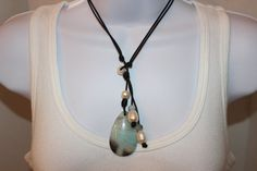 Another one of a kind piece.  Love the colors of Amazonite.