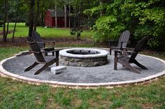 Another DIY fire pit, only this one is significantly less building work without the stone bench.
