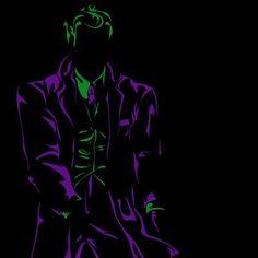 Negative Space DC Characters The Joker Comic Book Characters, Comic Character, Comic Books Art, Comic Art, Book Art, Character Design, Heath Ledger, Marvel Vs, Marvel Dc Comics