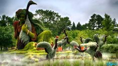 Amazing Living Sculptures at Montreal Botanical Garden I Mosaicultures I...