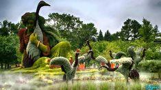 Amazing Living Sculptures at Montreal Botanical Garden I Mosaicultures I...