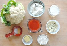 Brilliant: Buffalo Cauliflower and Blue Cheese-Yogurt Dipping Sauce | Taste for Adventure - Unusual, Unique & Downright Awesome Recipes