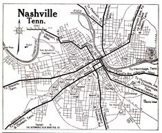 Mappy Monday: Nashville, Tennessee, 1919 #genealogy #familyhistory