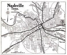 Mappy Monday: Nashville, Tennessee, 1919 #genealogy #familyhistory